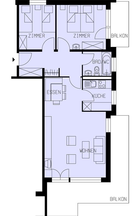 Plan Appartement 65m2 by 3 Zi 75m2 4 6 Pers
