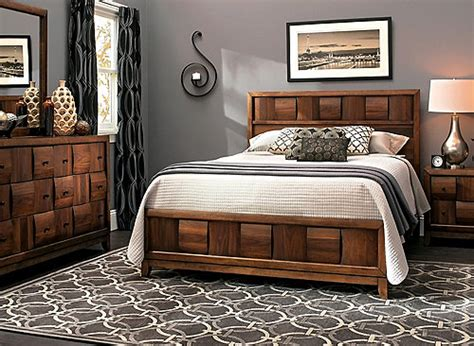 jovie  pc full platform bedroom set light walnut raymour flanigan