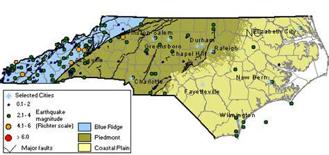 earthquake north carolina pics for gt north carolina natural resources map