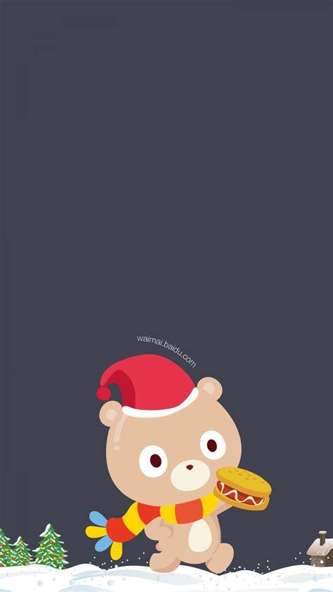 wallpaper cartoon iphone 4s cartoon christmas bear wallpaper free iphone wallpapers