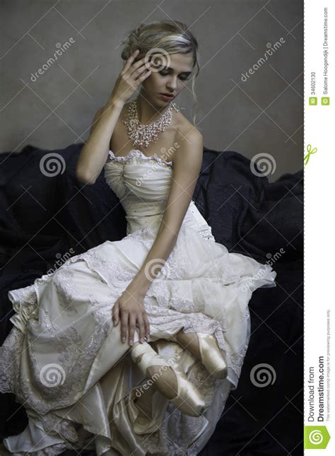 beautiful bridal ballerina stock photo image