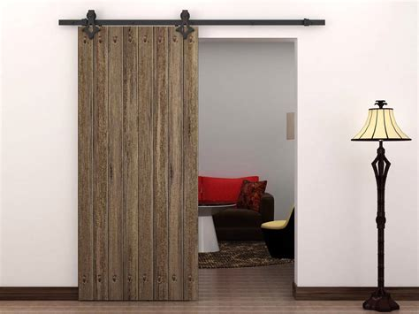 barn style doors 6 ft country style black barn wood steel sliding door