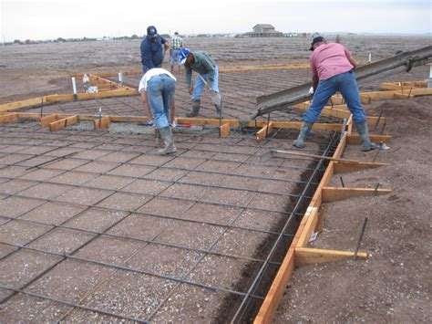 How To Pour A Concrete Slab For A Shed by Pouring The Slab Foundation The Concrete Pour The