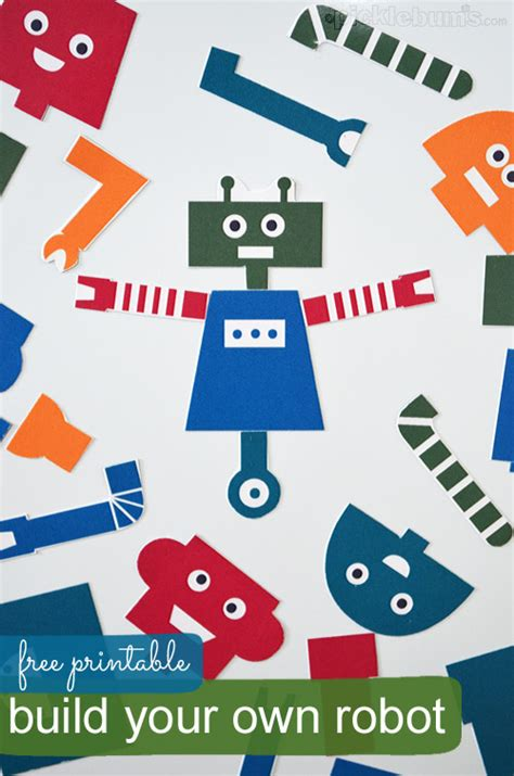 Printable Paper Robot | hello wonderful 7 fun magnetic toys and games to make