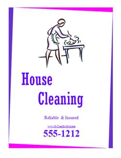 free house cleaning flyer templates linking to a list of cleaning related websites