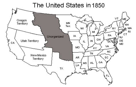 map of the united states in 1850 united states map as of 1850 genealogy pinterest
