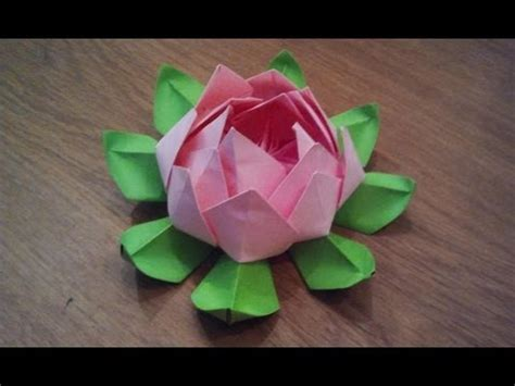 How To Make Lotus Using Paper - how to make an origami lotus flower