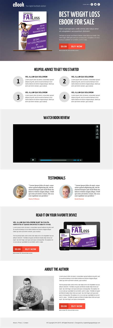 what books sell best best landing page designs for selling your ebook