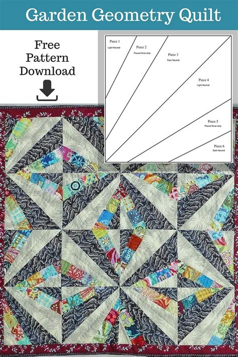 Geometry Quilt Project by At Such A Manageable Size The Garden Geometry Quilt Is