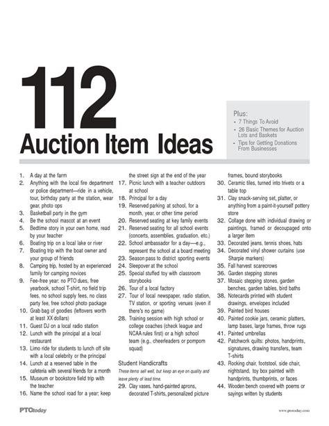 theme item list silent auction ideas for nonprofit fundraisers