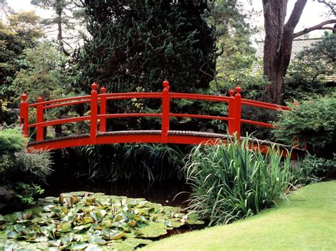 koi pond bridge japanese zen gardens