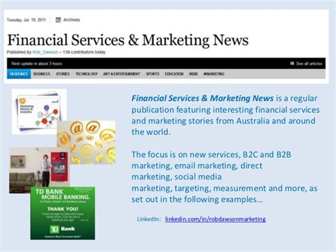 Marketing Financial Service financial services marketing news b2c b2b email