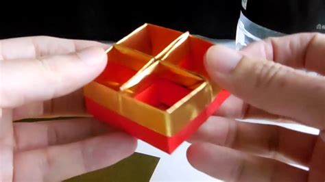 How To Make Paper Stronger - how to make strong square origami box and separater 丈夫な四角い