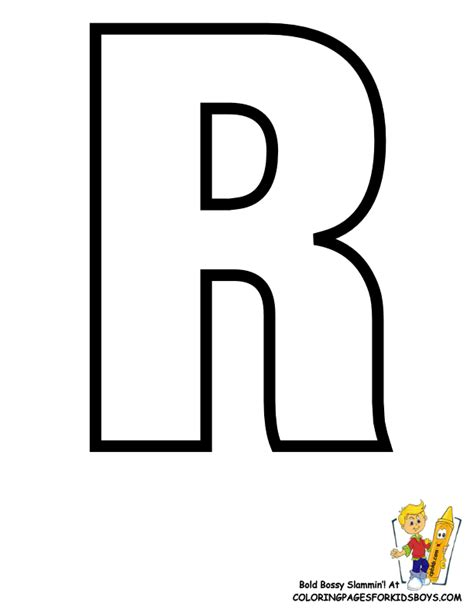 Bossy R Coloring Page by Classic Alphabet Printables Learning Letters Free