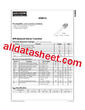a1023 transistor datasheet pdf s9014 fiche technique pdf fairchild semiconductor
