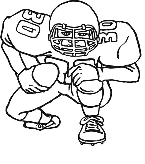 Coloring Page Of A Football Player | free printable football coloring pages for kids best