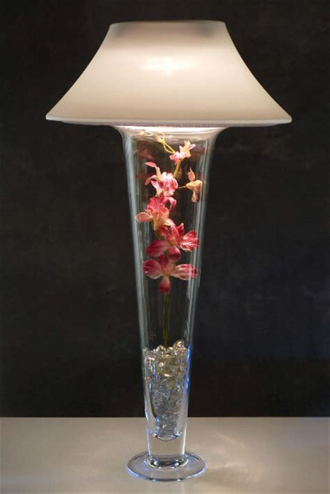 Vase With Light by Ivory Micro Dot Vase Shade And Light