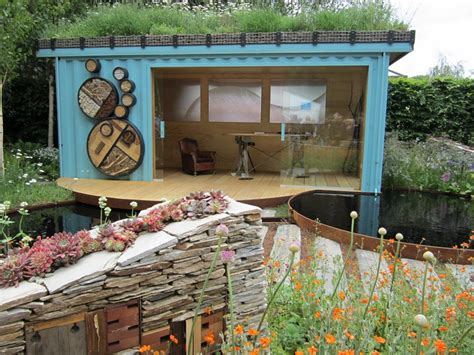 shipping container in garden shipping containers the owner builder network