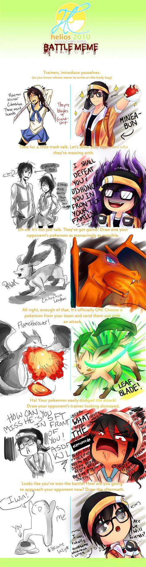 Pokemon Battle Meme - pokemon battle double meme by citruspencil on deviantart