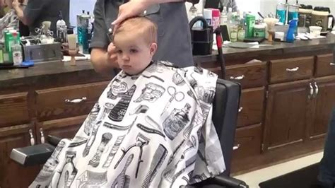 haircut for 6 month old josiah s 1st haircut 16 months old youtube