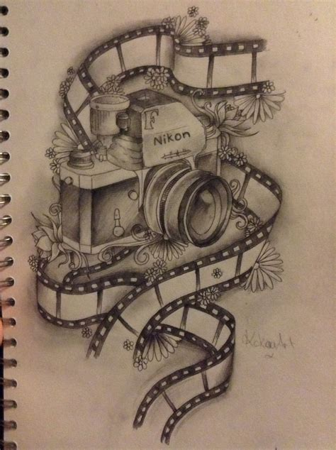 camera tattoo designs design from kokoaart and my style