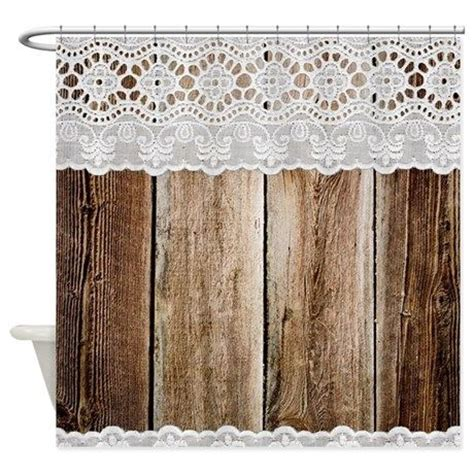Country Chic Shower Curtains Rustic Barn Wood Lace Shower Curtain Lace Shower Curtains Lace And Vintage