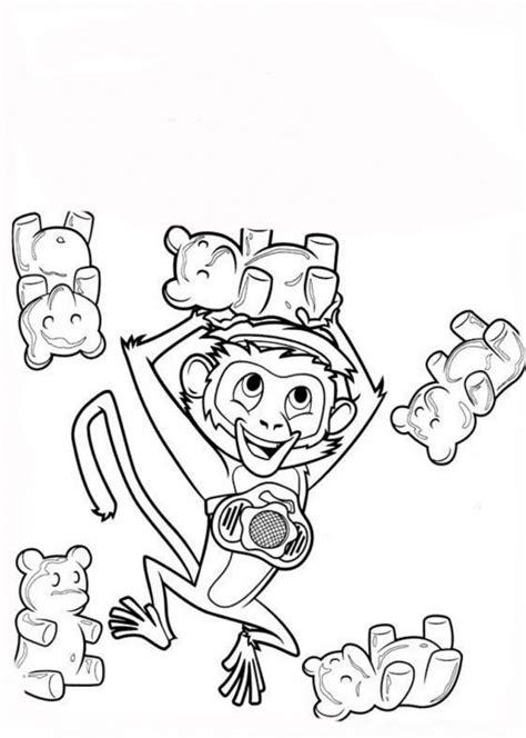 circus monkey coloring pages circus monkey drawing www pixshark com images