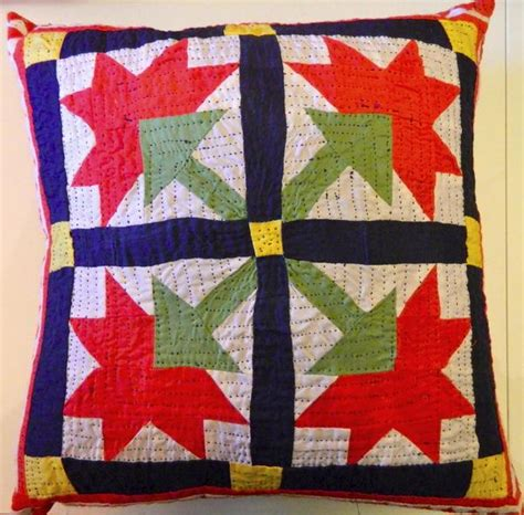 Stitched Patchwork - stitched patchwork and applique cushion made