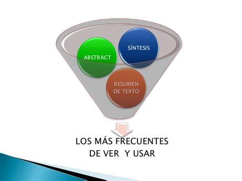 Resumen Y Abstract by El Resumen El Abstract Y La S 237 Ntesis