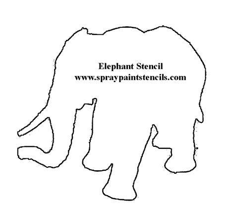 printable animal shapes free pinterest elephant stencil