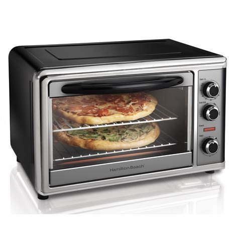 toaster oven shop hamilton 6 slice convection toaster oven with rotisserie at lowes