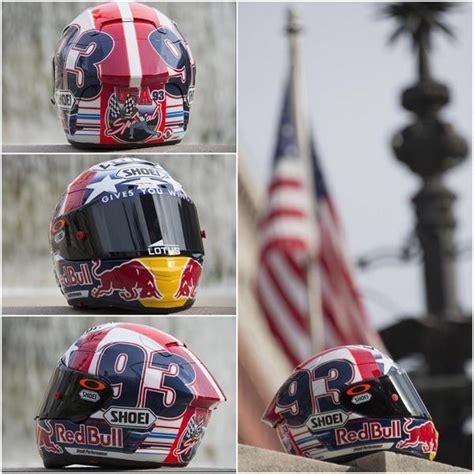 design helm marquez catalunya special helmet paint job of repsol honda motogp