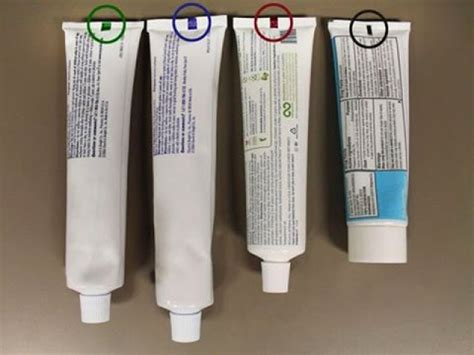 toothpaste color code originality