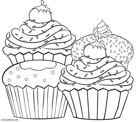 color pages free printable cupcake coloring pages for cool2bkids