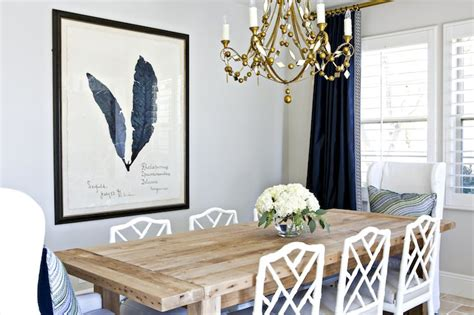 Dining Room With Navy Curtains Navy Blue Curtains Traditional Living Room