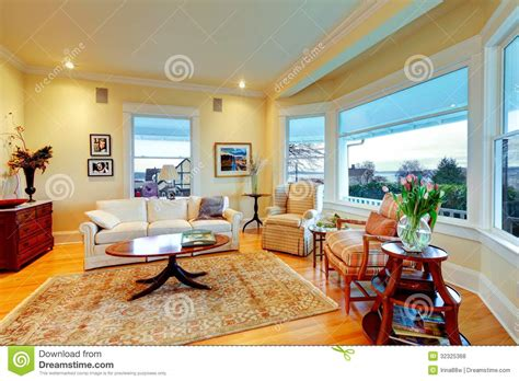 Living Room Golden Yellow Golden Bright Yellow Luxury Living Room With Fireplace And