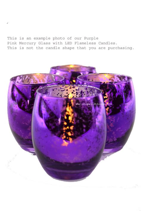 Purple Candle Holders Your Chance Mercury Glass Candle Holders Bulk Special Silver And Purple 12 Pcs Square Shape