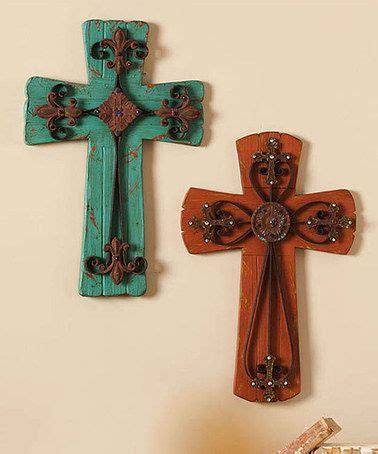 set of 5 wall crosses colorful southwest rustic country best 25 cross wall art ideas on pinterest rustic cross