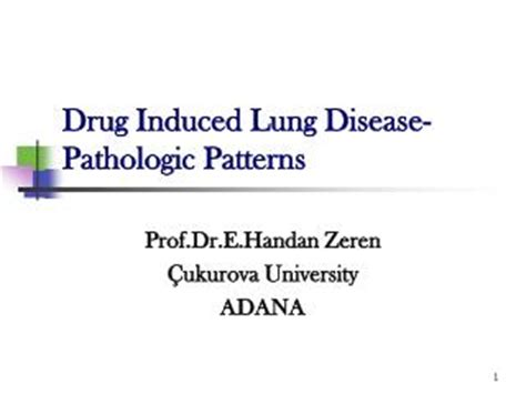 pattern analysis of drug induced skin diseases ppt ventilator associated lung injury powerpoint