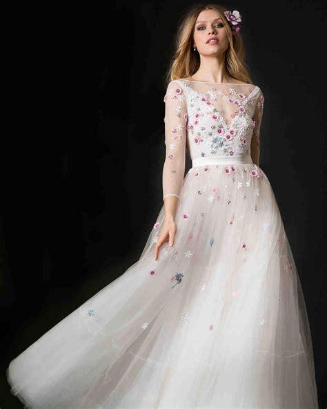 ultra floral wedding dresses martha stewart weddings