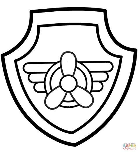 Paw Patrol Skye S Badge Coloring Page Free Printable Coloring Pages Paw Patrol Shield Template