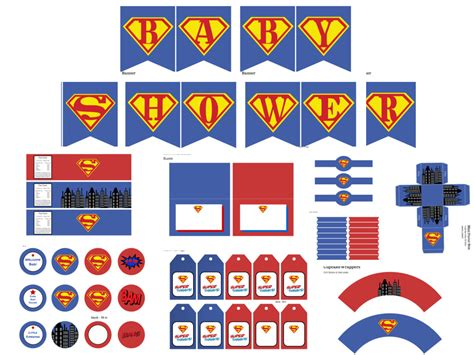printable superman banner superman baby shower pack captain america baby shower
