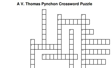 Brief Glance Crossword Clue the pynchon crossword puzzle open culture