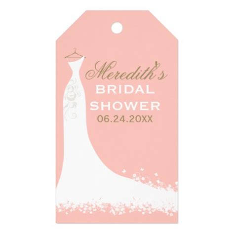 Bridal Shower Tags by Bridal Shower Favor Tags Wedding Gown Pack Of Gift Tags