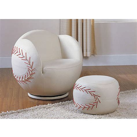 baseball chair with ottoman acme all star baseball 2 piece chair and ottoman set