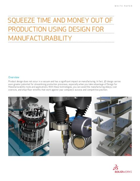design for manufacturing slideshare squeeze time and money out of production using design for