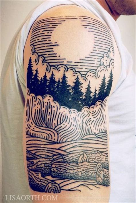 easy homemade tattoo ink simple homemade like black ink forest with moon tattoo on
