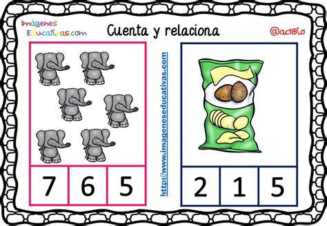imagenes educativas cuenta y relaciona fichas para aprender a contar 5 imagenes educativas