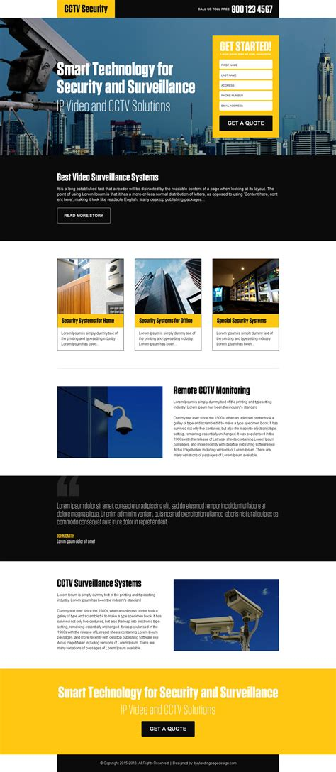 lead capture security landing page buylpdesign