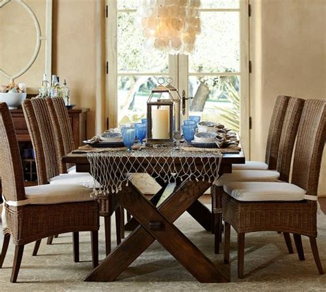 Dining Room Chair Cushions Pottery Barn Jacquelyne Dining Chair Pottery Barn Table And Chairs